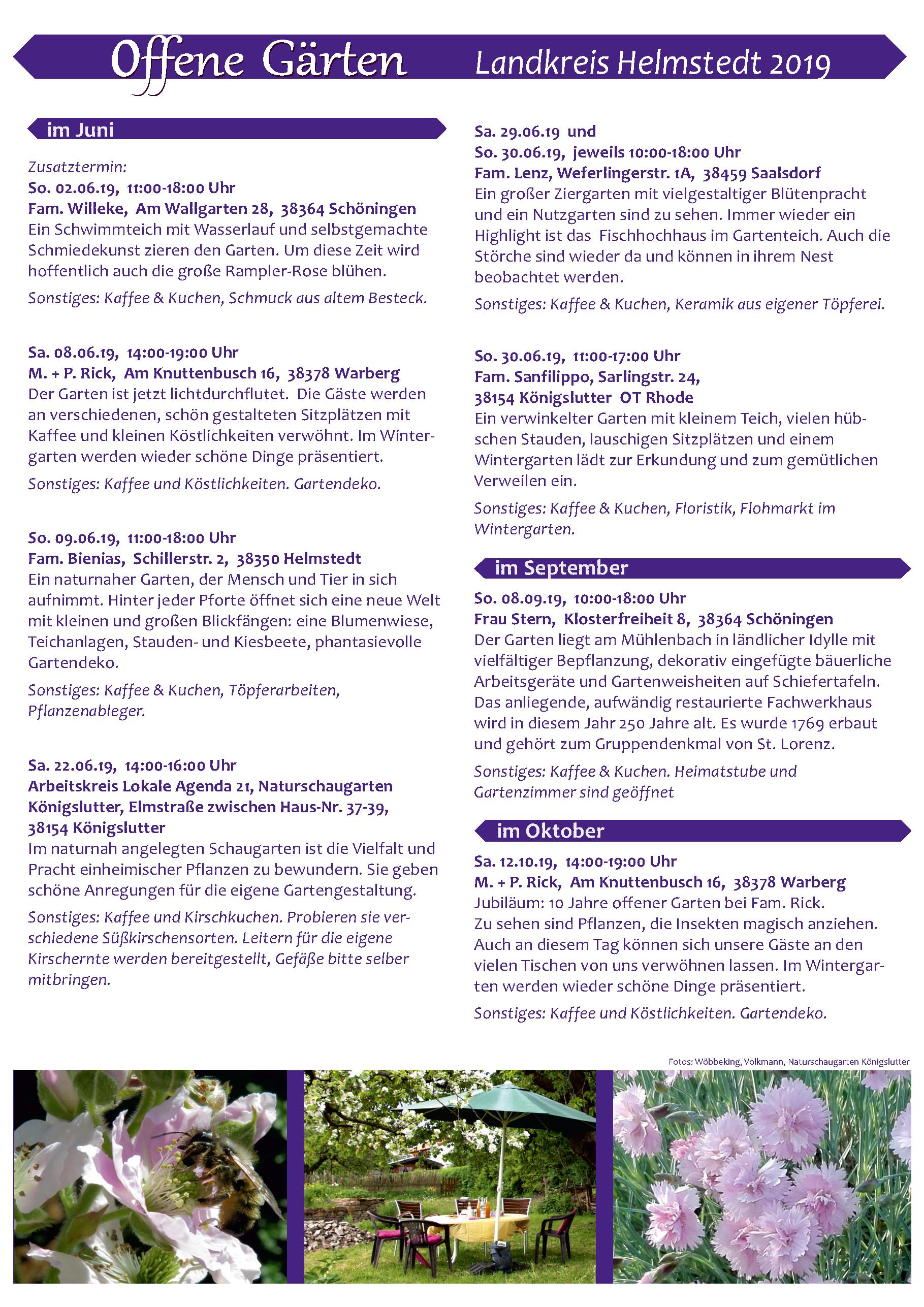 Offener Garten Bei Fam Bienias In Helmstedt
